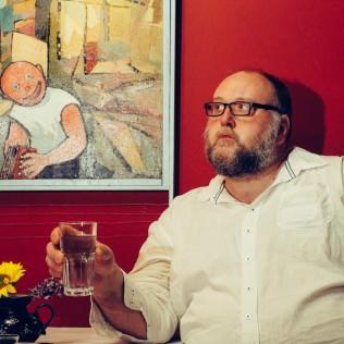 Gunnar Jónsson Cafe Moskovassa. Kuva: Jan Ahlstedt