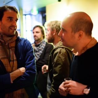 Alex Ross Perry ja Peter Strickland Cafe Moskovassa. Kuva: Marko Saari