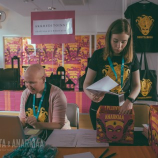 R&A:n festivaali-info. Kuva: Vitali Gusatinsky