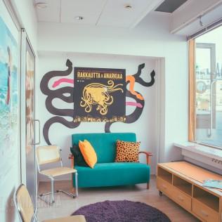 R&A:n press lounge. Kuva: Vitali Gusatinsky