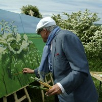 "DAVID HOCKNEY PAINTING ""WOLDGATE BEFORE KILHAM"" 2007 � DAVID HOCKNEY PHOTO CREDIT: JEAN-PIERRE GONCALVES DE LIMA"