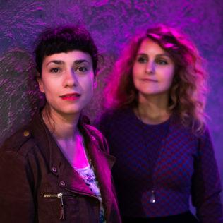 Ohjaaja Cristina Grosan ja tuottaja Dóra Nedeczky (lyhytelokuva Night Painting). Kuva Mikko Kauppinen.