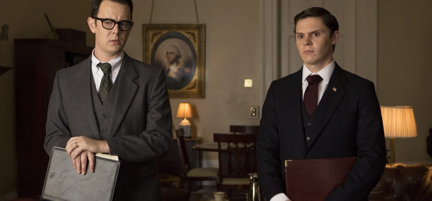 Colin Hanks stars as Egil Krogh (left) and Evan Peters stars as Dwight Chapin (right) in Liza Johnson's ELVIS & NIXON, an Amazon Studios / Bleecker Street release.