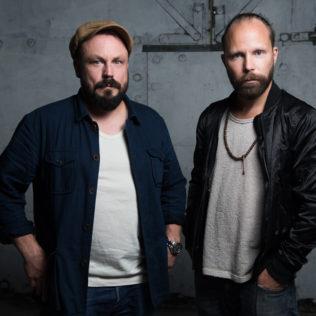 Ennakkonäytökset Konepajan Brunolla. Docventures-kaksikko. Kuva Marko Saari.
