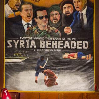 Riikko Sakkisen teos Syra Beheaded Andorrassa. Kuva Hannes Renvall.