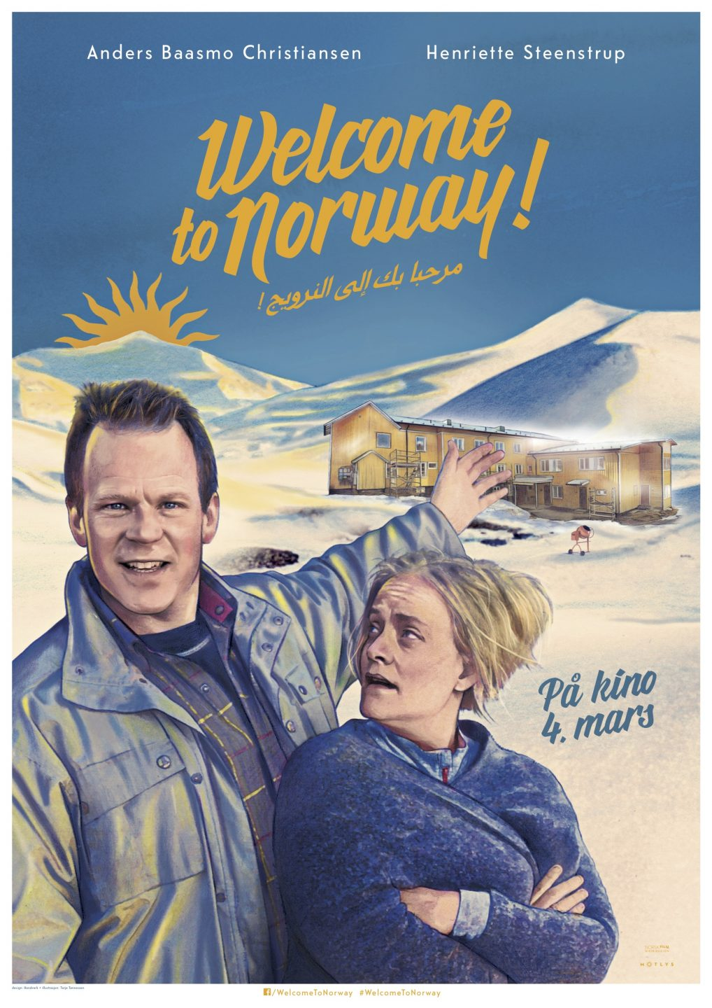 Welcome to Norway Poster Norwegian